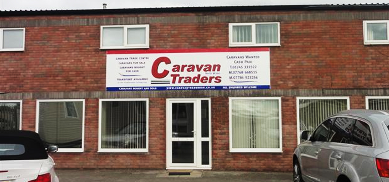 caravan traders front entrance of the offices